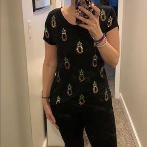 H&M Sequin Pineapple t-shirt
